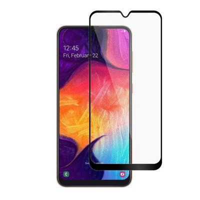 گلس تمام چسب Samsung A10s مشکی